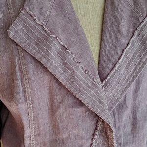 White House Black Market Jackets & Coats - WHBM Lavender Linen Blazer